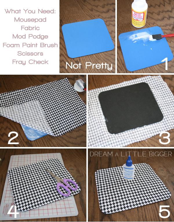 Как можно сделать коврик для мыши своими руками