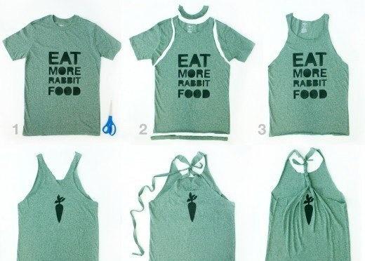 Как из футболки сделать модную футболку