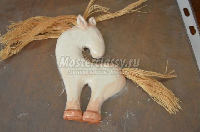 Как сделать лошадь из солёного теста