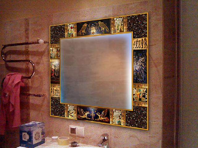 Рамка для зеркала своими руками в ванную