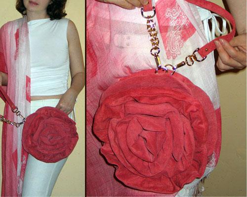 Цветы на сумку своими руками