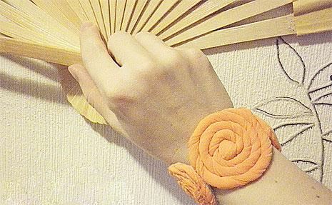 Браслет из ткани своими руками