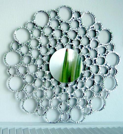Оформить овальное зеркало