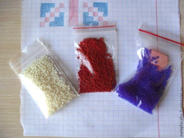 Создание сережек из бисера «