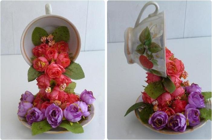 Подделка из цветов своими руками