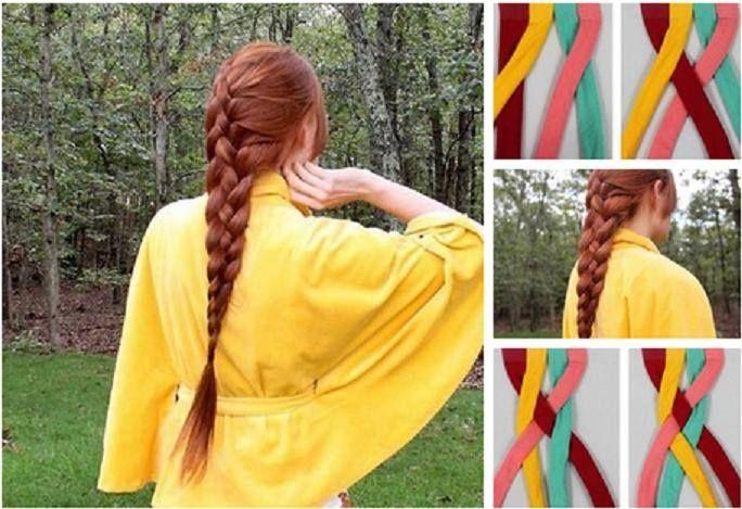 Красивая коса на длинные волосы своими руками за 5 минут
