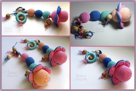 игрушка для новорожденного крючком