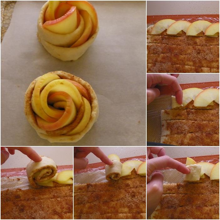 Как сделать розы их яблоками 8