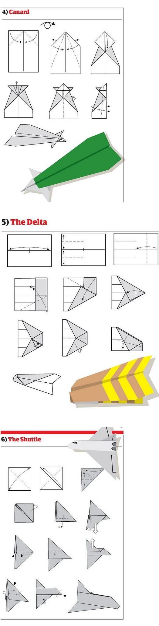 Как сложить из бумаги самолет