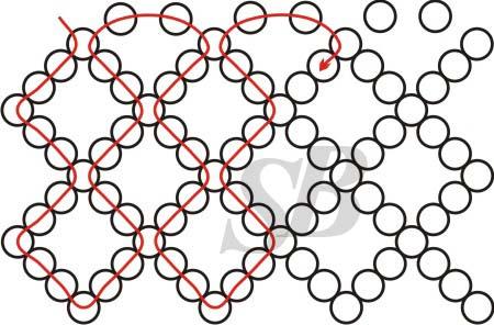 Сетка схема из бисера