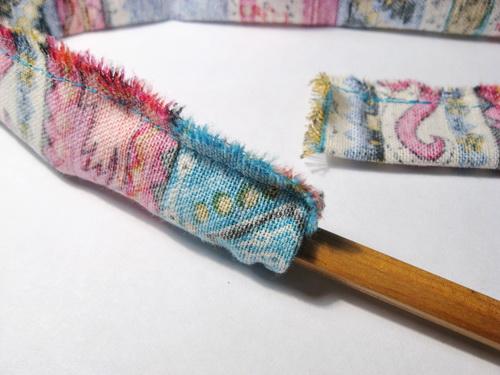 Колье из текстиля своими руками